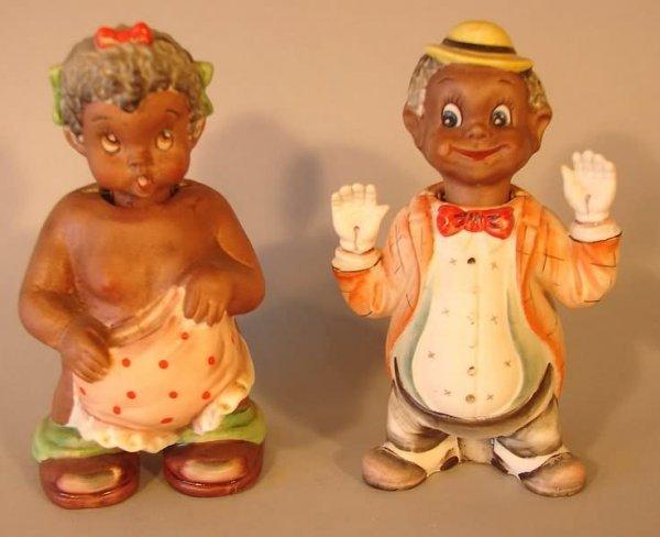 4004: Black Americana - Boy & Girl Nodders