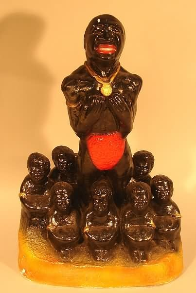 4020: Black Americana - Chalkware Statue with Slaves