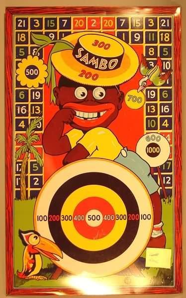 4022: Black Americana -  Sambo Tin Litho Dart Game