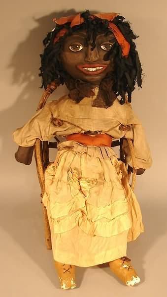 4031: Black Americana - Folk Art Doll in Chair