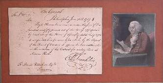 91: Benjamin Franklin Autograph.