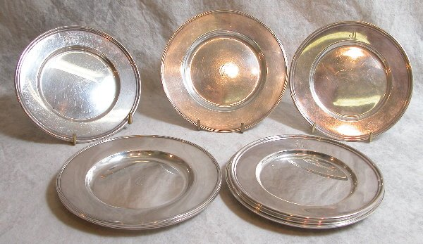 523: Grouping of Sterling Silver Bread Plates – Gorham