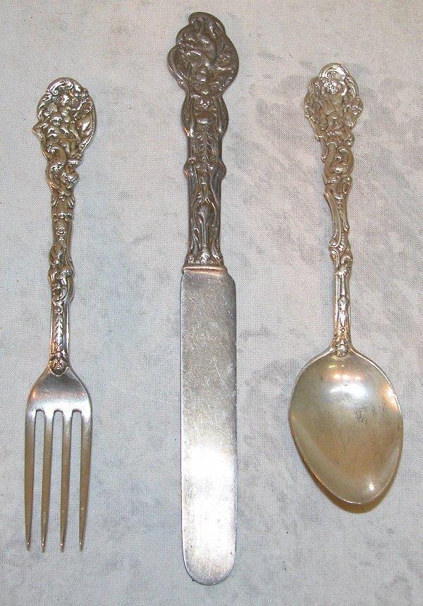 526: Child's Sterling Silver Flatware Set – Gorham.