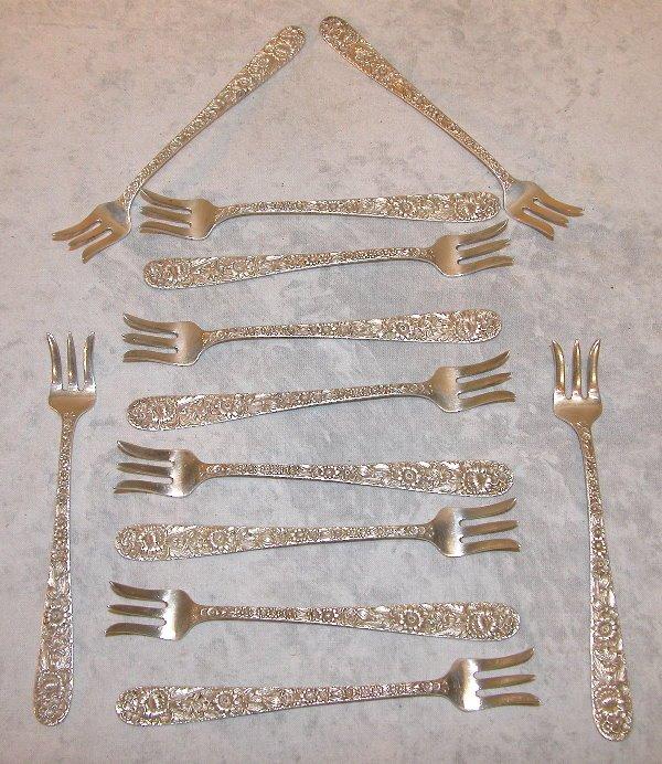 528: Sterling Silver Cocktail Forks – Kirk.