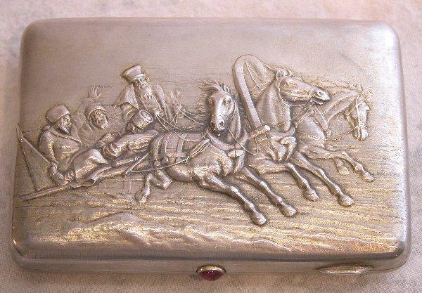 531: Sterling Silver Cigarette Case.