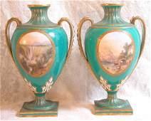 705 Pair of Worcester Vases