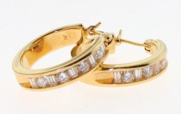 2008: Diamond earrings.
