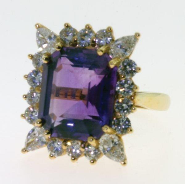 2010: Amethyst and diamond ring.