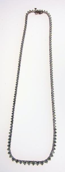 2018: Diamond riviera necklace.