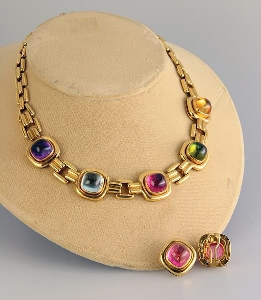 2315: Multistone Necklace and Earrings
