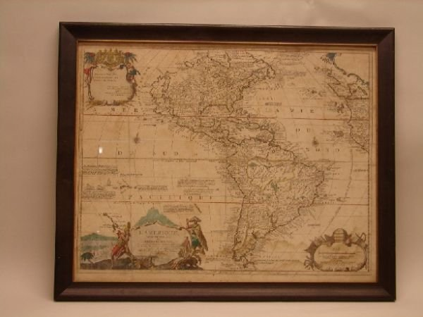 3330: 18th Century Map of the Americas