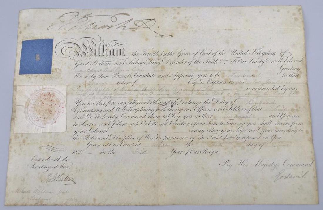 Autograph of English King William IV
