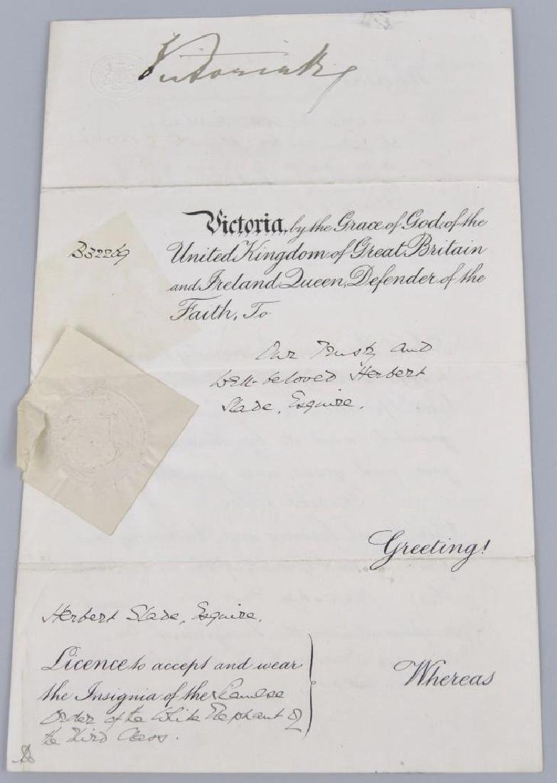 Autograph of English Queen Victoria-Boxing  Related