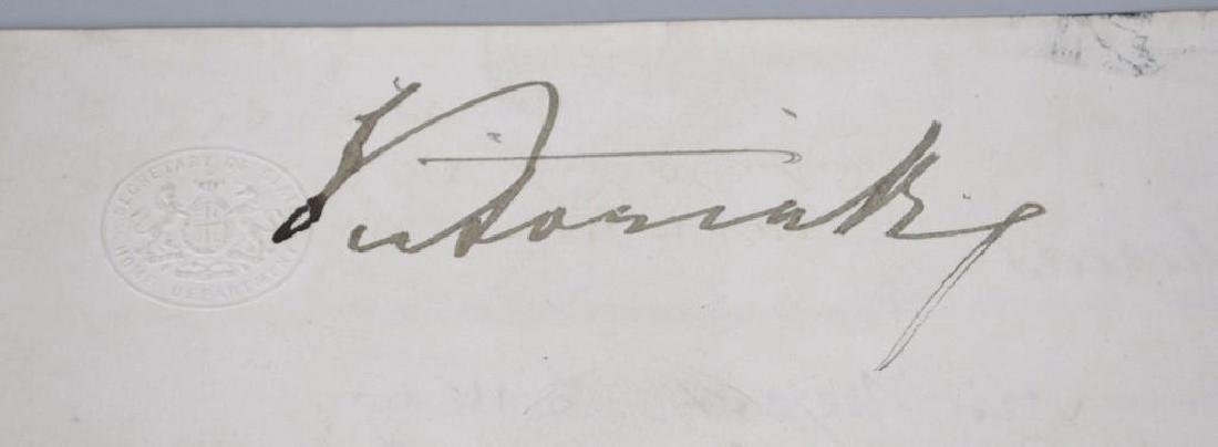 Autograph of English Queen Victoria-Boxing  Related - 2