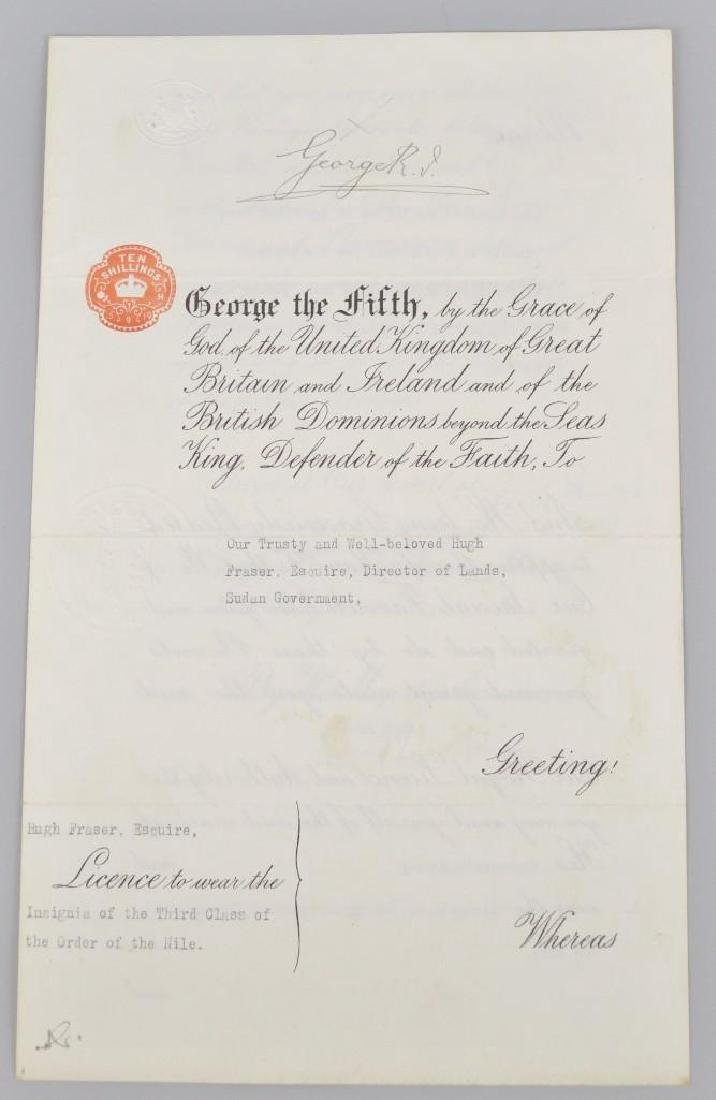 Autograph of English King George V