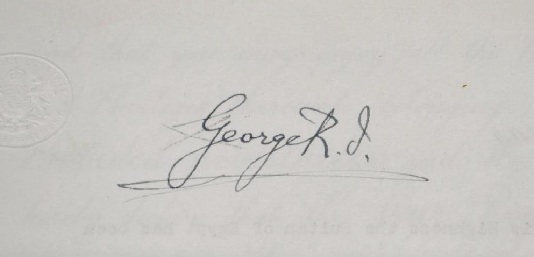 Autograph of English King George V - 2
