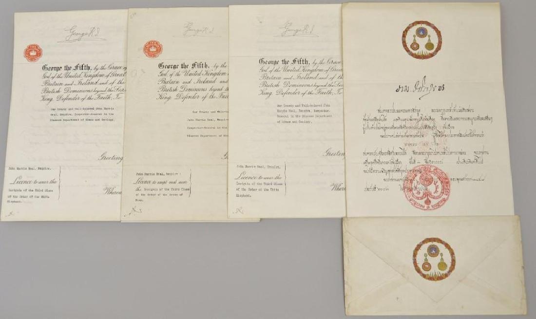 Autographs (3) of English King George V