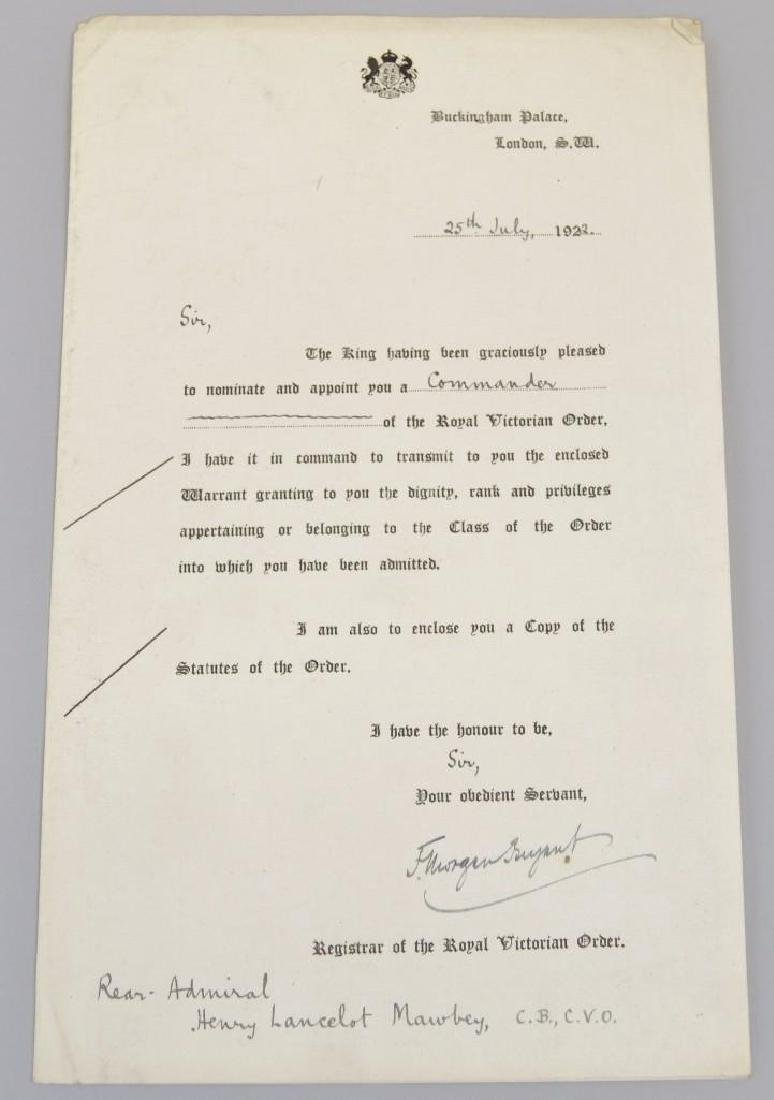 Document Archive -British Admiral Mawbey - 8