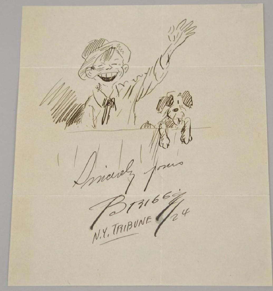 Cartoon and Autograph of Clare Briggs