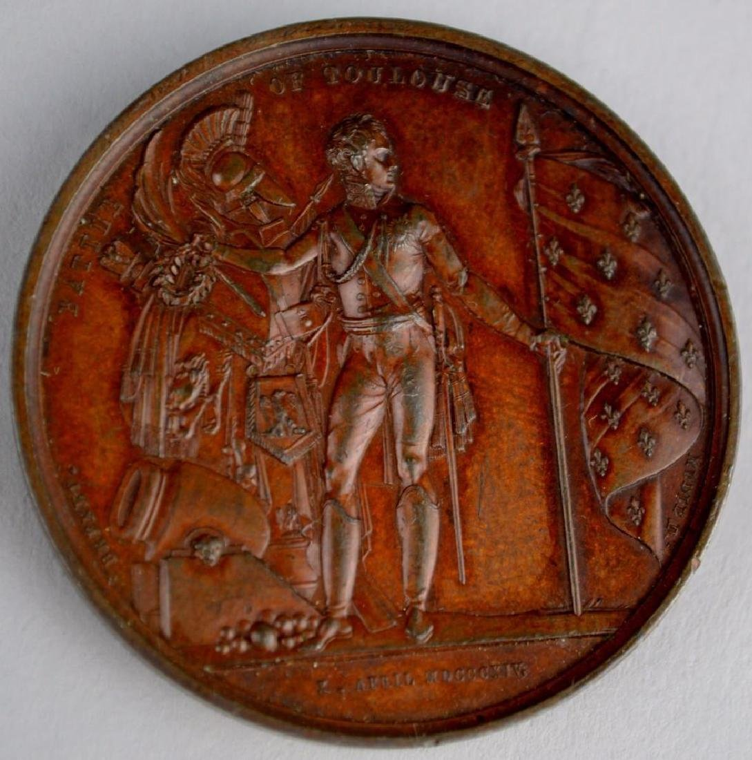 British Medal Commemorating the Battle of Toulouse