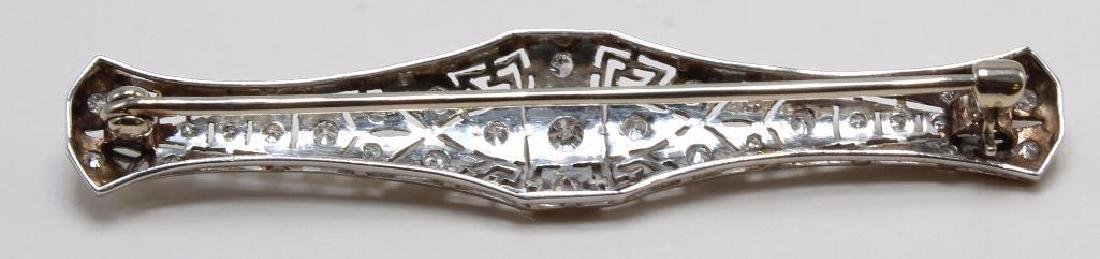 Platinum Filigree Brooch Bar Pin with Diamonds, .50CTW - 3