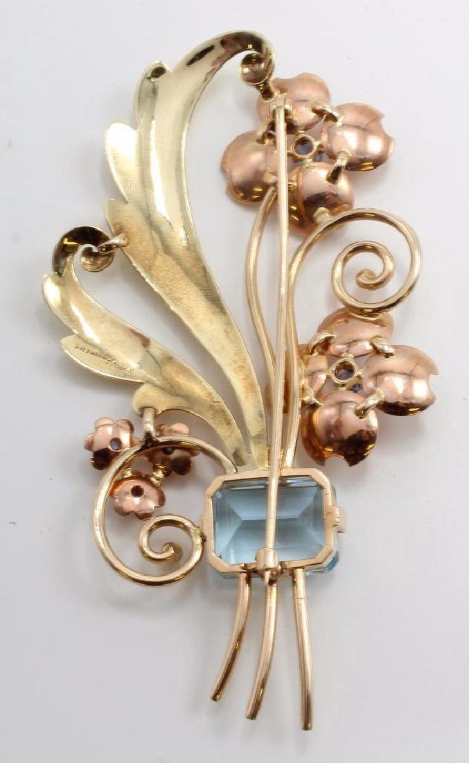 Tiffany & Co. 14K Yellow and Rose Gold Brooch with - 2