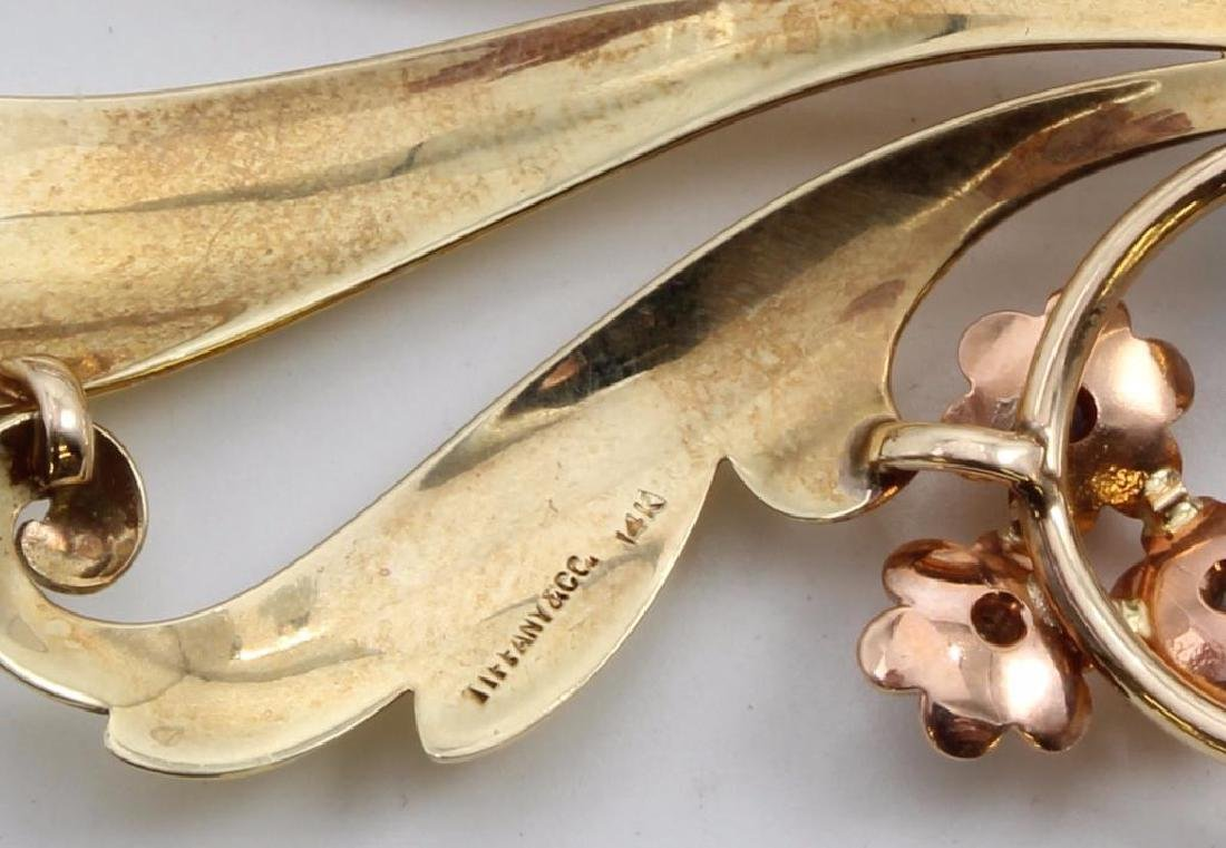 Tiffany & Co. 14K Yellow and Rose Gold Brooch with - 3