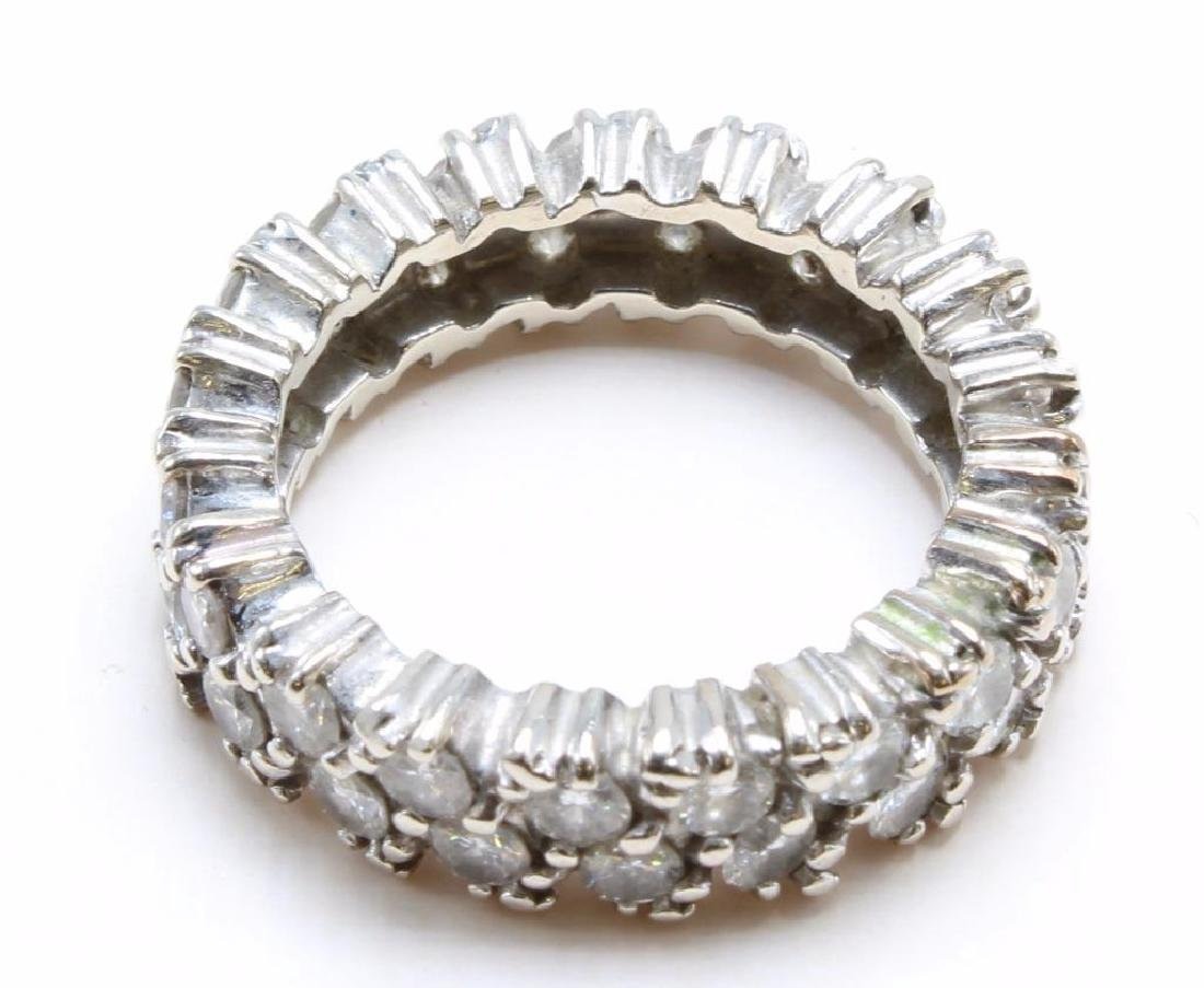 14K White Gold Eternity Band with Diamonds - 2