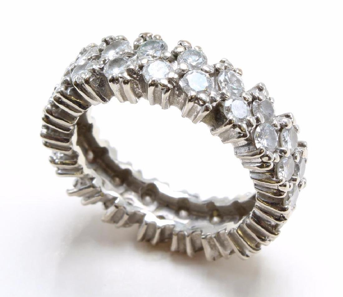 14K White Gold Eternity Band with Diamonds - 3