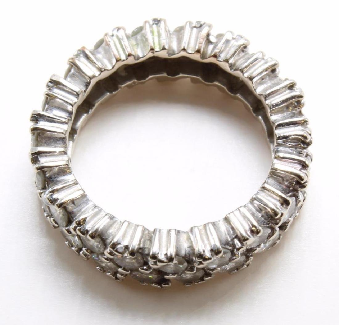 14K White Gold Eternity Band with Diamonds - 4