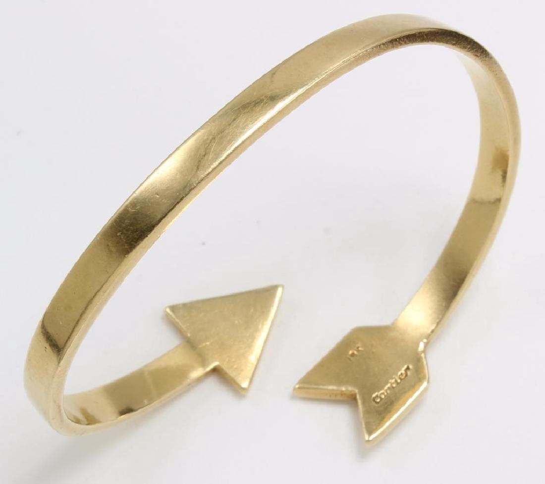Cartier 18K Yellow Gold Arrow Cuff Bangle Crossover - 2