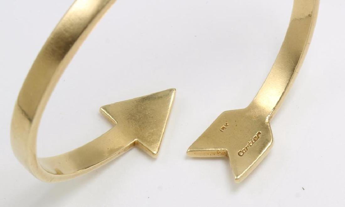 Cartier 18K Yellow Gold Arrow Cuff Bangle Crossover - 3