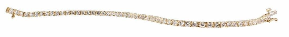 14K Yellow Gold Tennis Bracelet with Diamonds. 2.75CTS