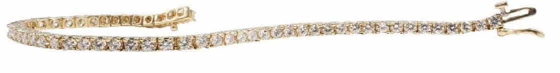 14K Yellow Gold Tennis Bracelet with Diamonds. 2.75CTS - 2