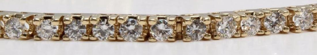 14K Yellow Gold Tennis Bracelet with Diamonds. 2.75CTS - 4
