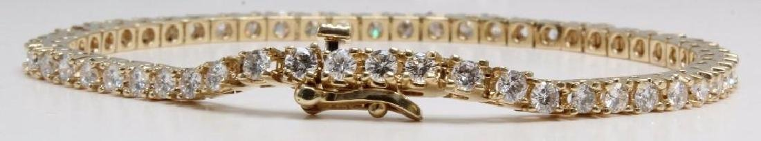 14K Yellow Gold Tennis Bracelet with Diamonds. 2.75CTS - 7