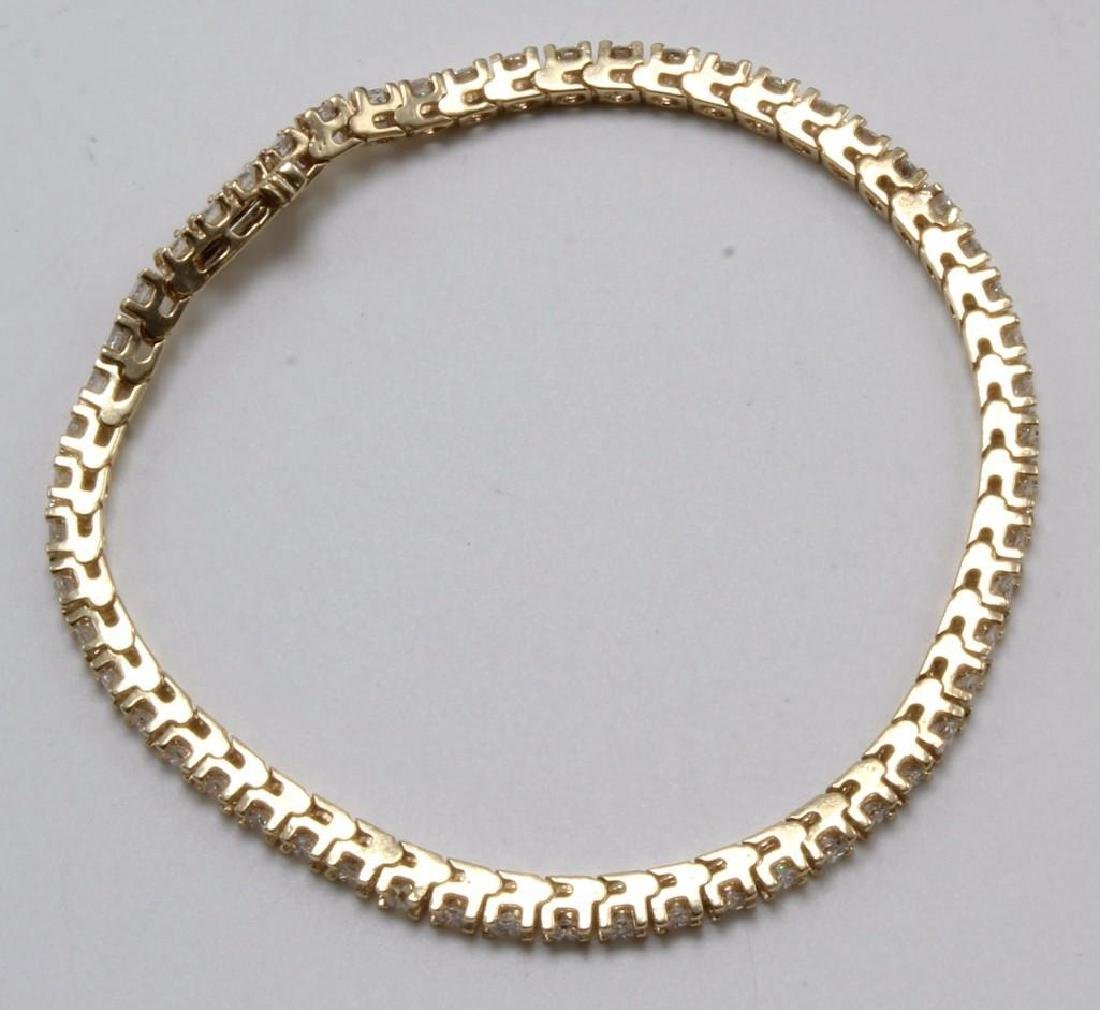 14K Yellow Gold Tennis Bracelet with Diamonds. 2.75CTS - 8