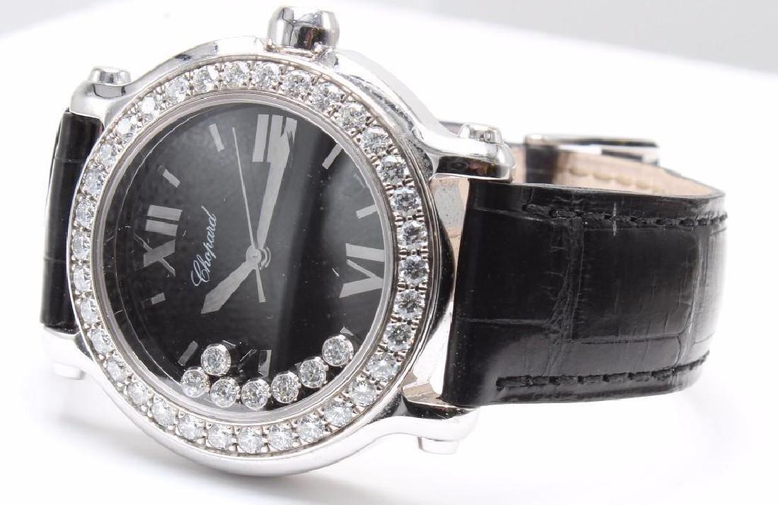 Ladies Chopard Happy Sport Diamond and 18K White Gold