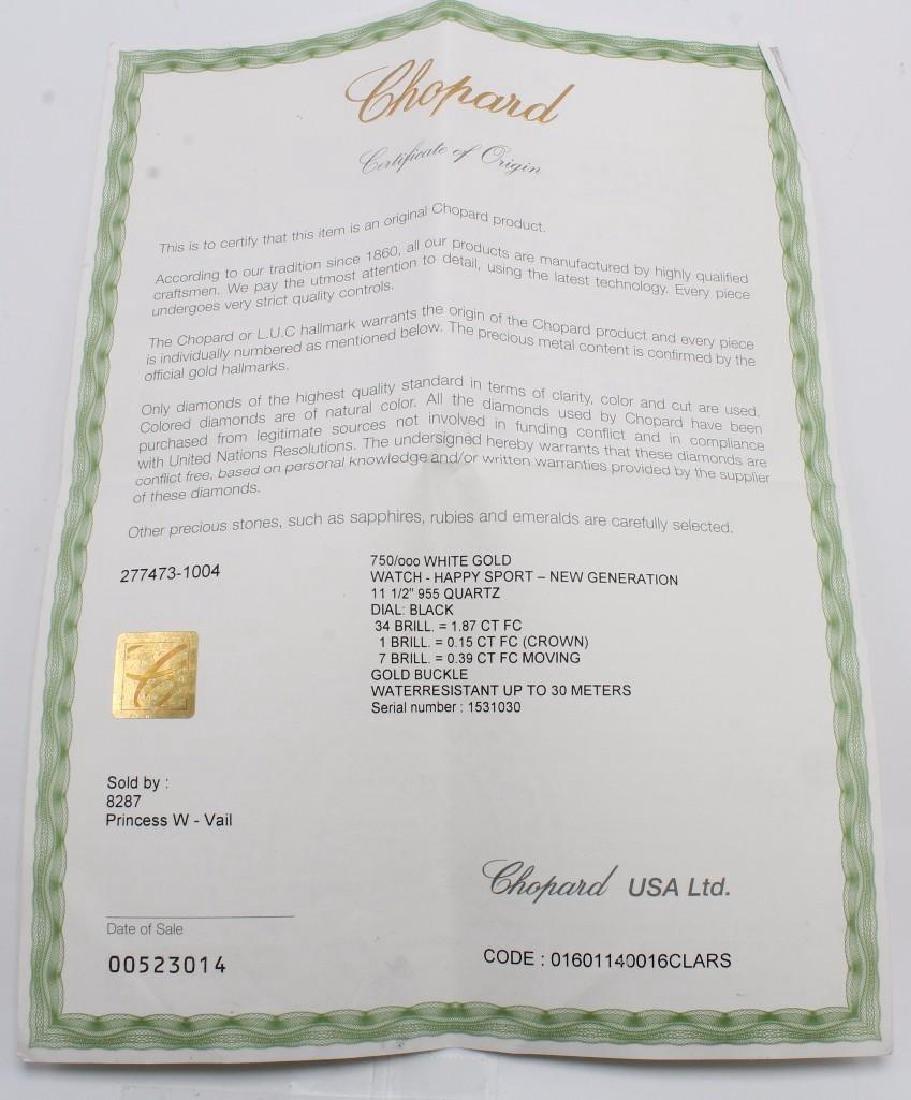 Ladies Chopard Happy Sport Diamond and 18K White Gold - 9