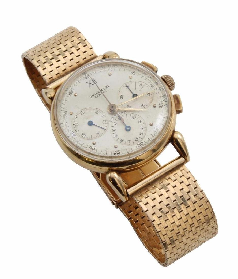 Gent's Universal Geneve Compax 14K Yellow Gold