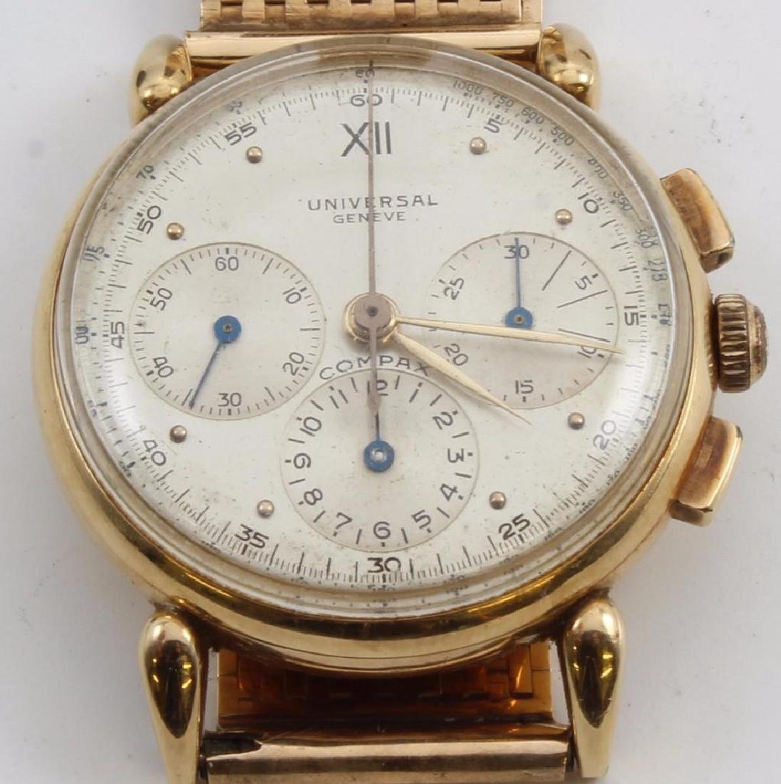 Gent's Universal Geneve Compax 14K Yellow Gold - 2