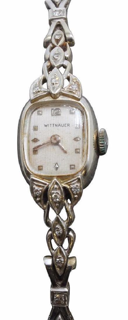 Ladies Wittnauer 14K White Gold Wrist Watch with