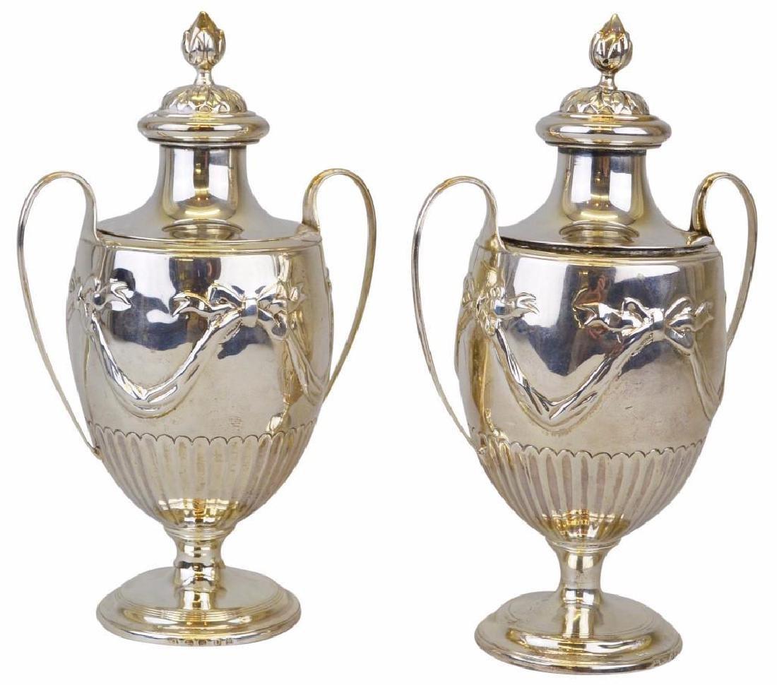Joshua Johnson,  Silver  Tea Caddies