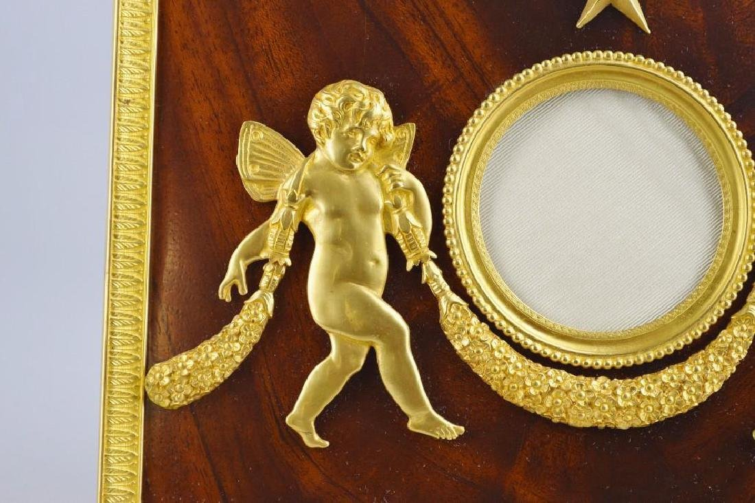 French Empire Neoclassical Moire Ormolu Frame - 2