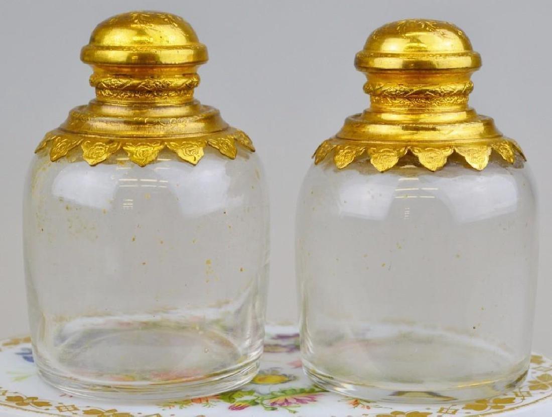 French White Opaline Ormolu Perfume Casket - 5