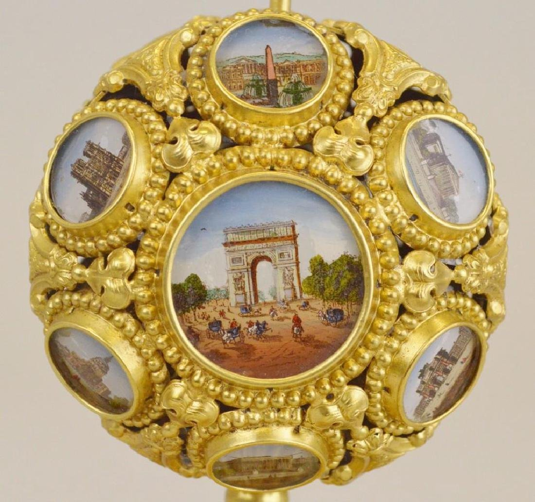 French Napoleon III Palais Royal Mechanical Scent Caddy - 2
