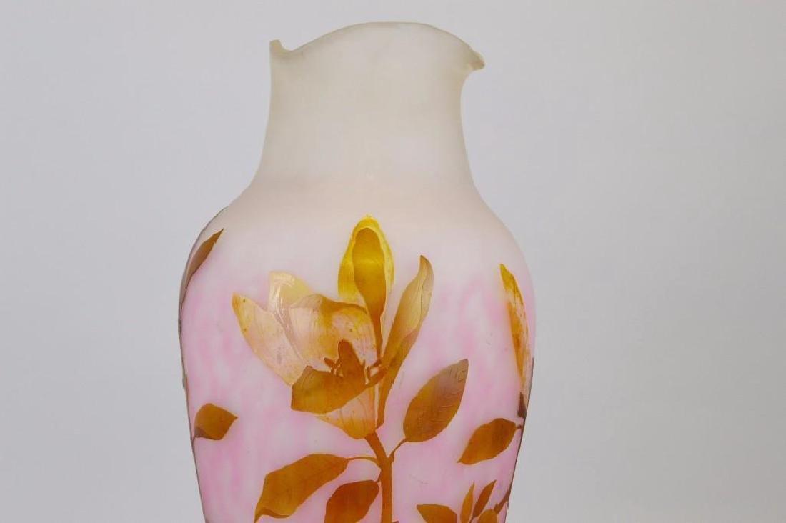 Daum Nancy Cameo Glass Vase - 2