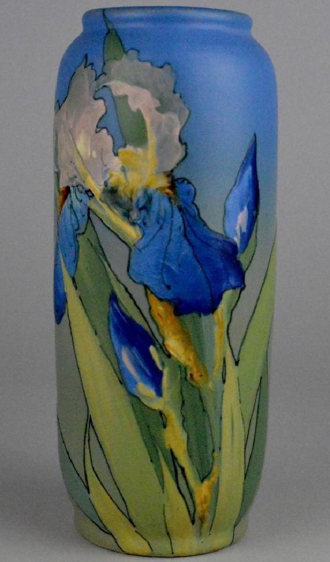 Weller Hudson Iris Pottery Vase
