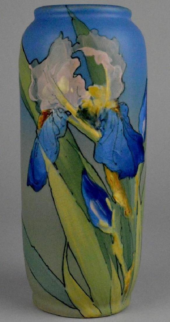 Weller Hudson Iris Pottery Vase - 2