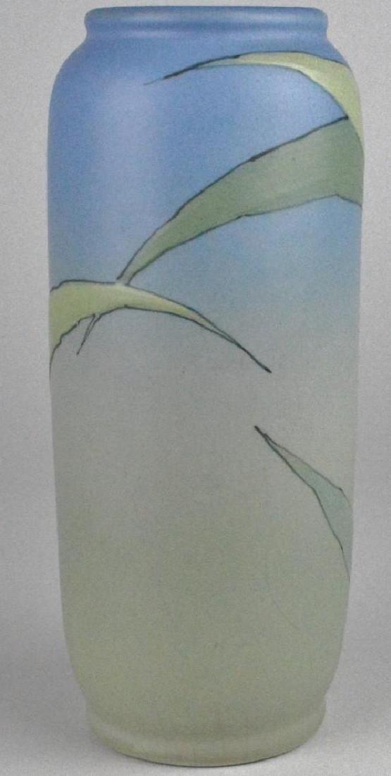 Weller Hudson Iris Pottery Vase - 3